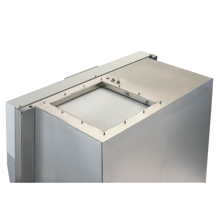 Monolithic, single piece class II biological safety cabinet shell for improved safety.
